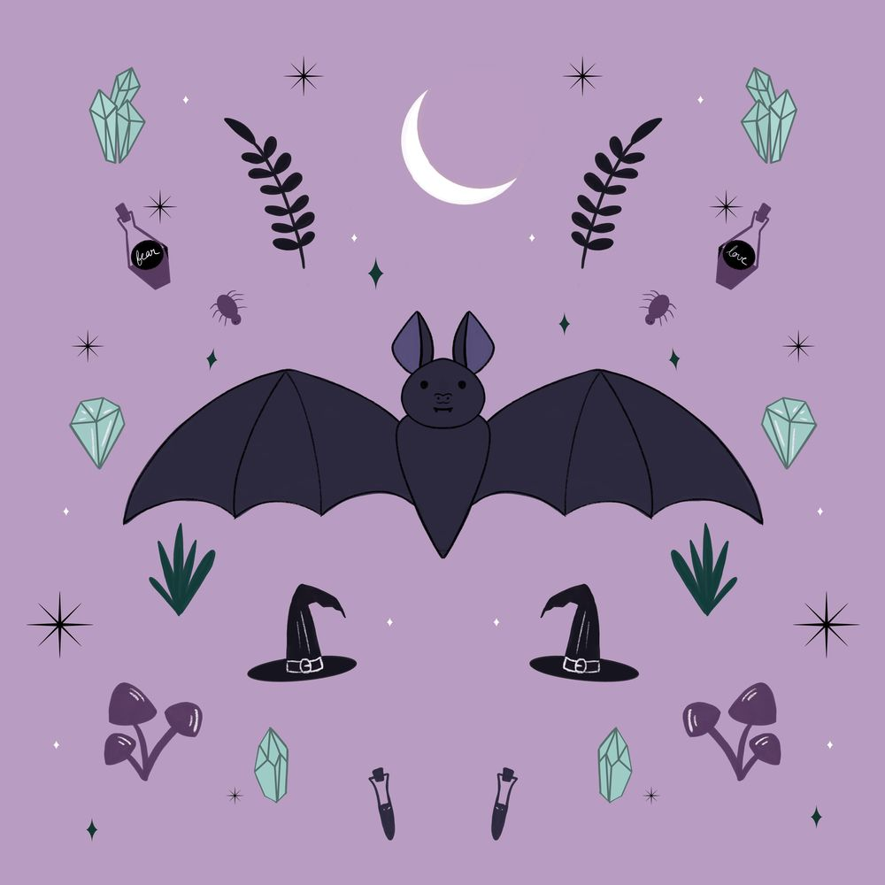 Friendly Bat and pretty Moth - image 2 - student project
