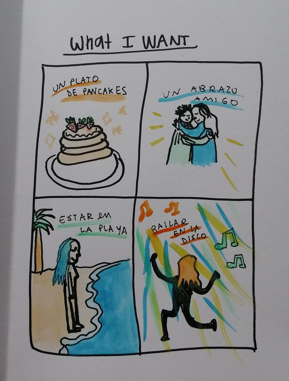 Drawing my feelings in spanish - image 1 - student project