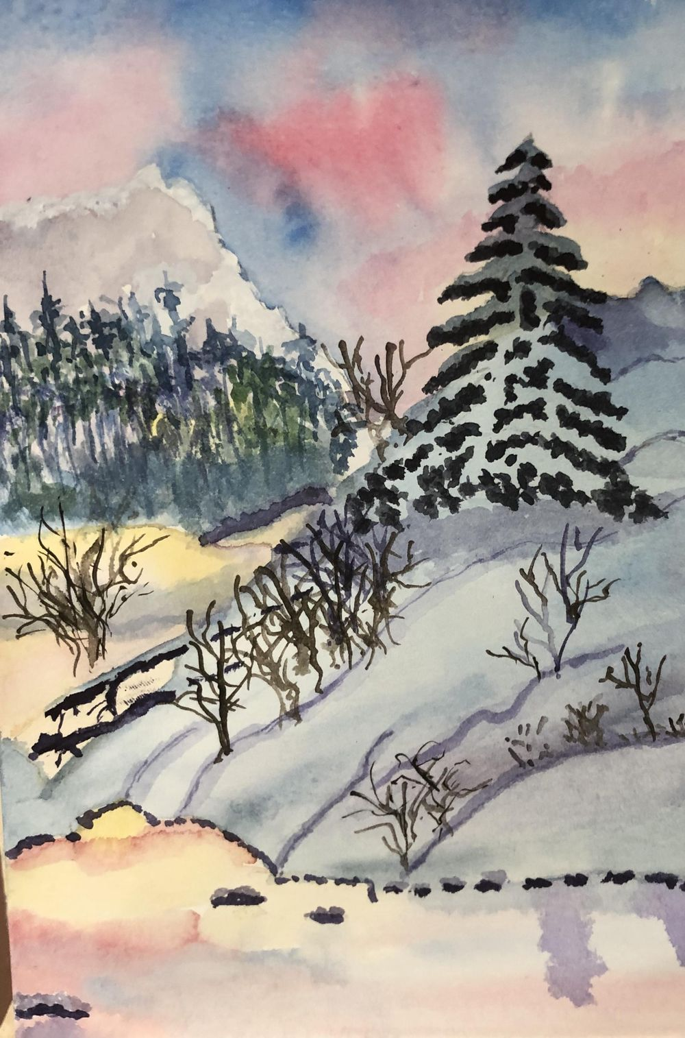 Winter Sunset Lesson - image 1 - student project