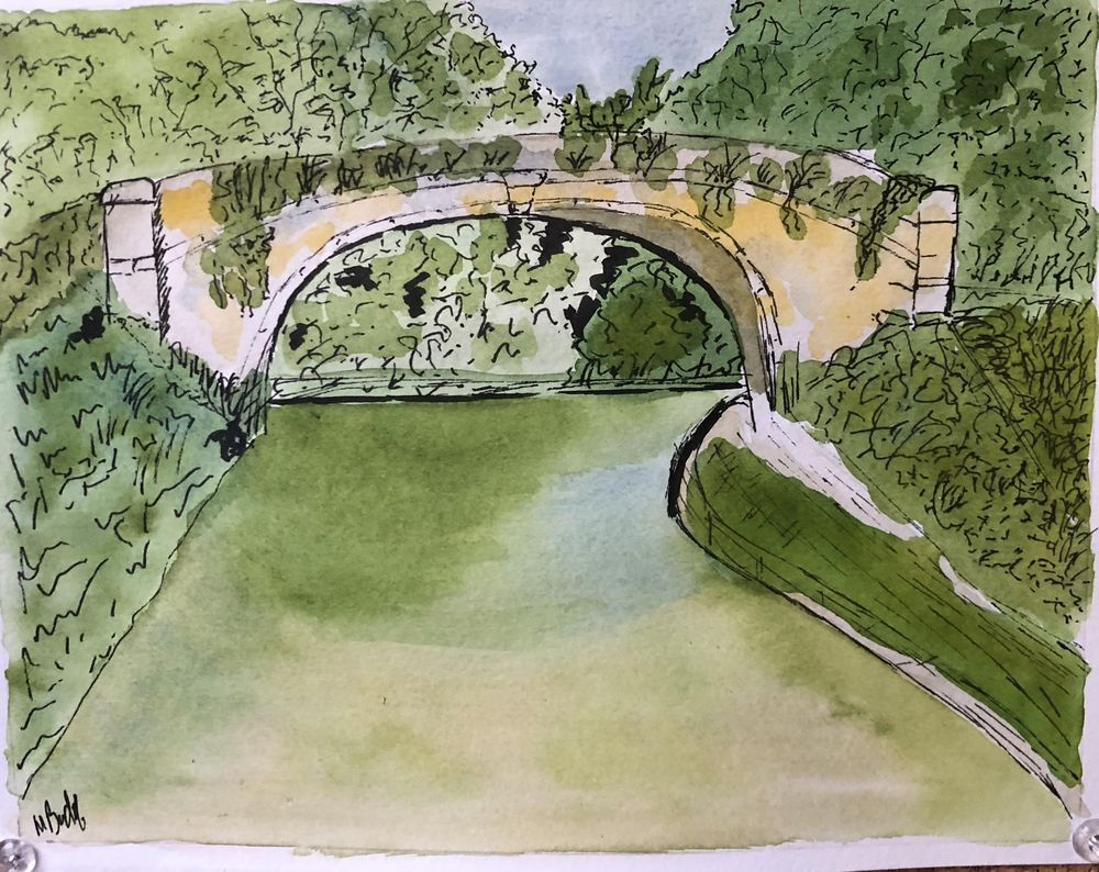 Bridge Pic + own water colour pic - image 1 - student project