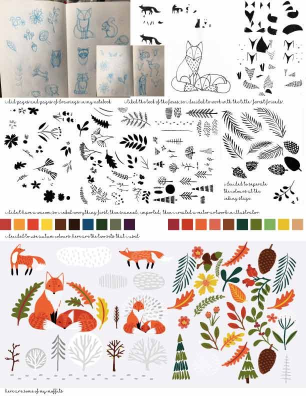 Forest Friends - Repeat Pattern - image 1 - student project