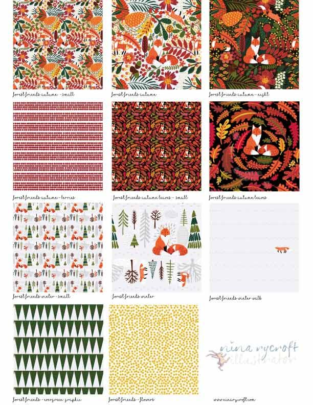 Forest Friends - Repeat Pattern - image 3 - student project