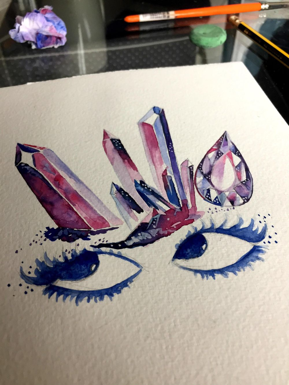 Crystals and Gems on my mind! . - image 2 - student project