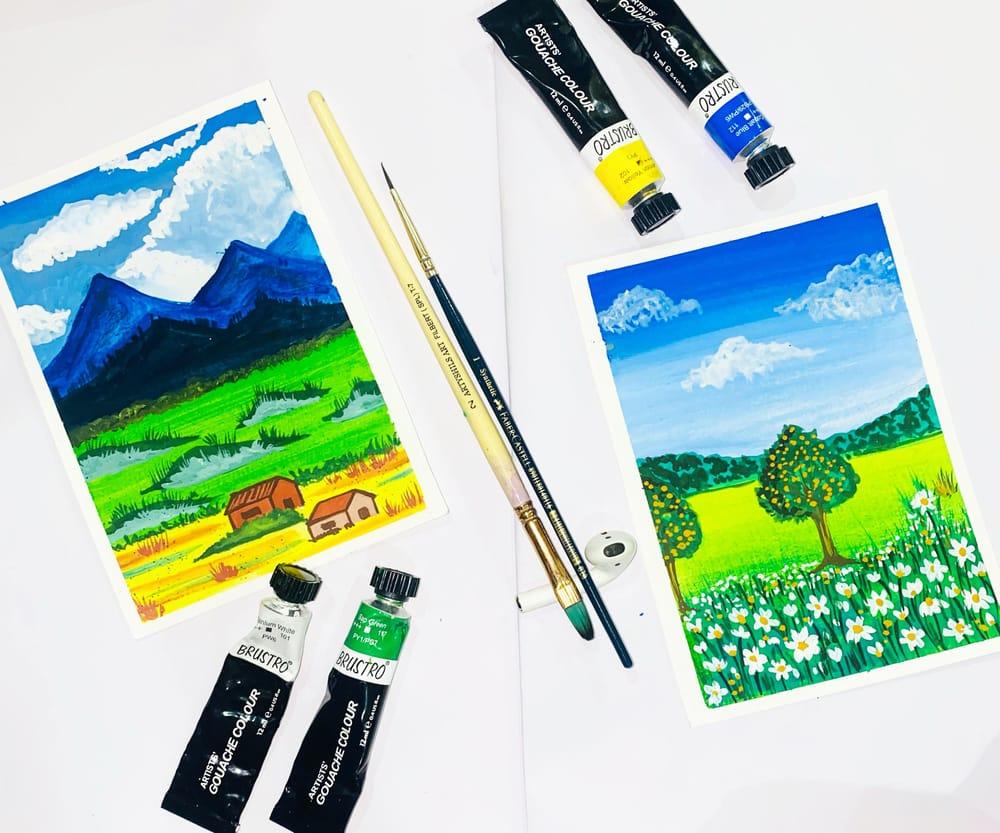 Gouache meadows - image 1 - student project