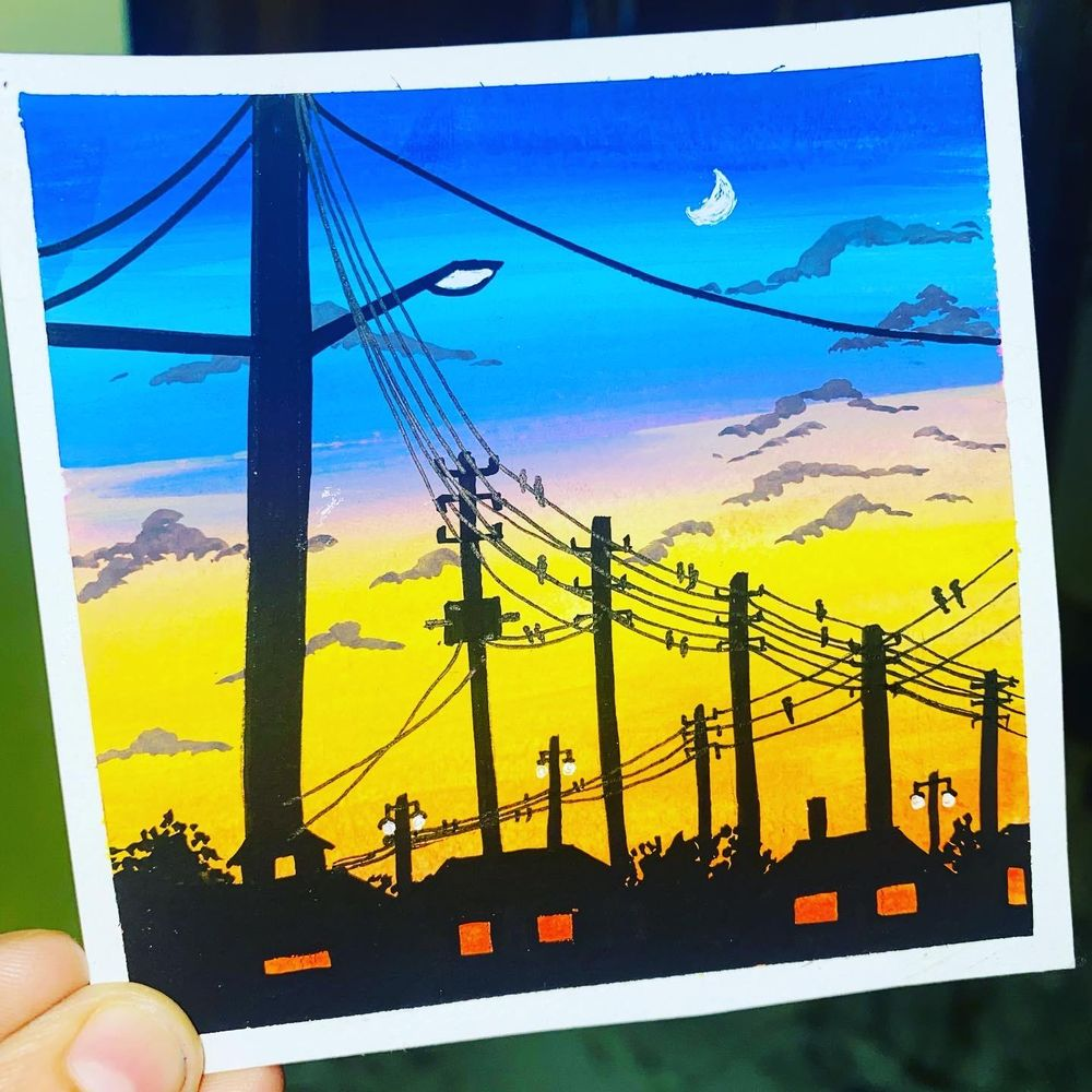 Gouache Silhouttes - image 2 - student project