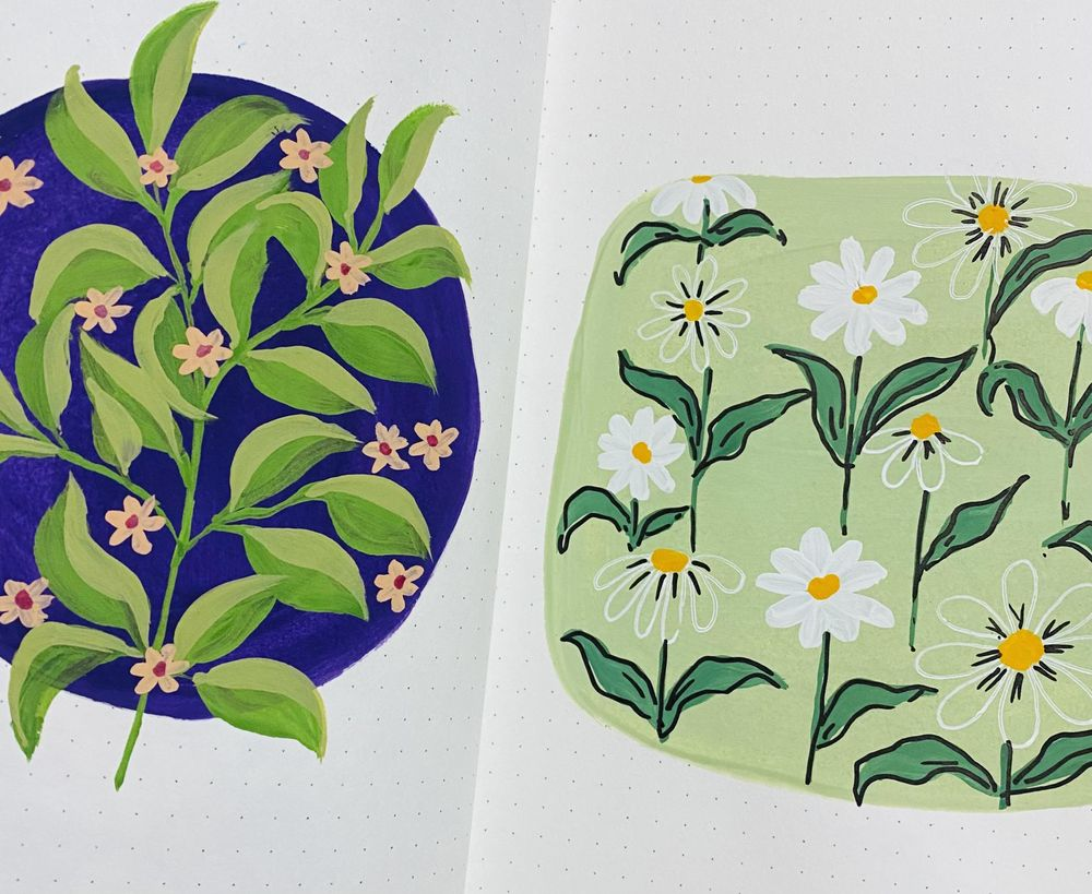 Pattern Painting with Goauche - image 1 - student project