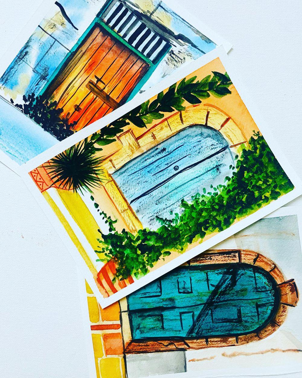 vintage doors - image 2 - student project