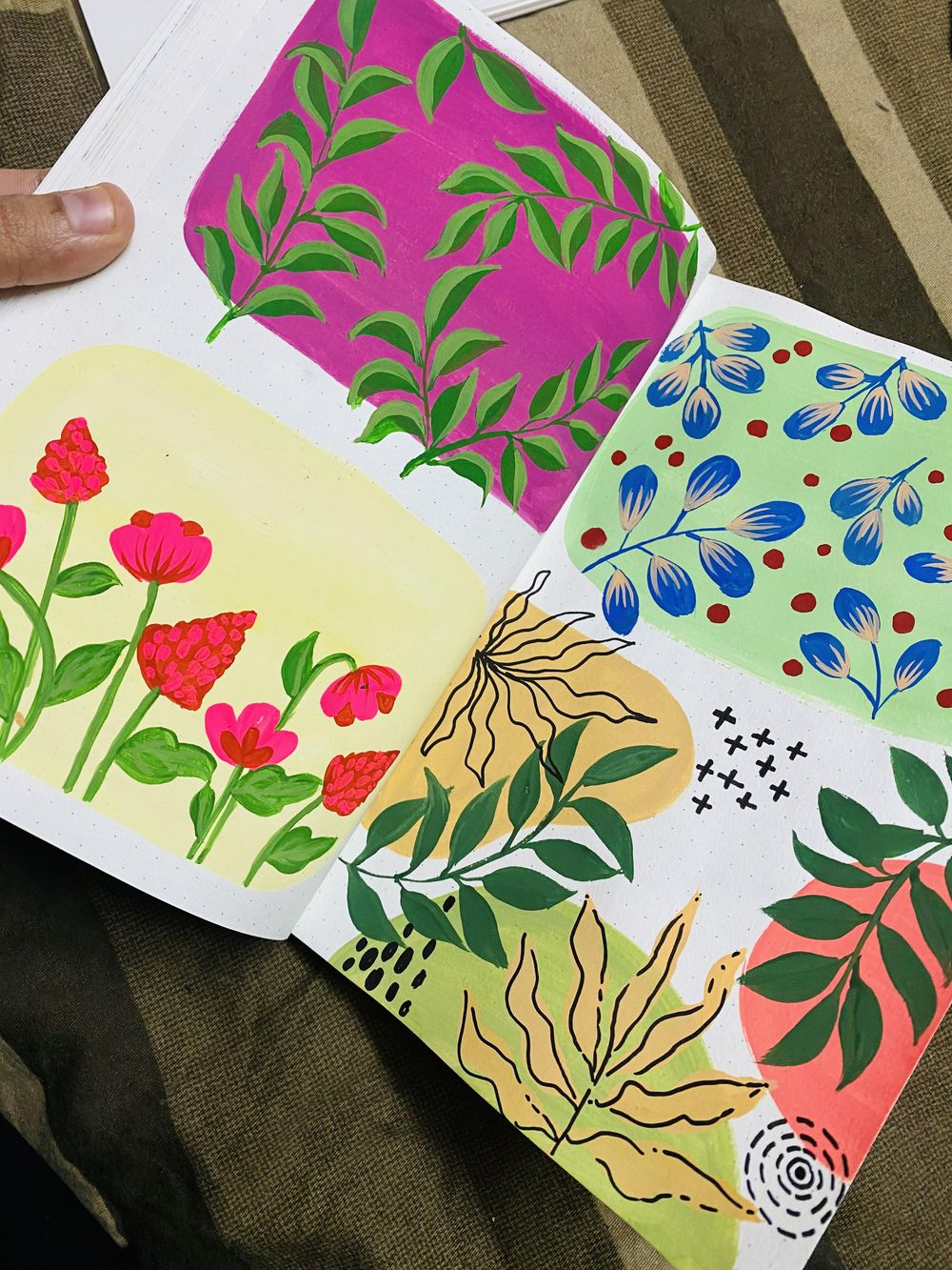 Pattern Painting with Goauche - image 2 - student project