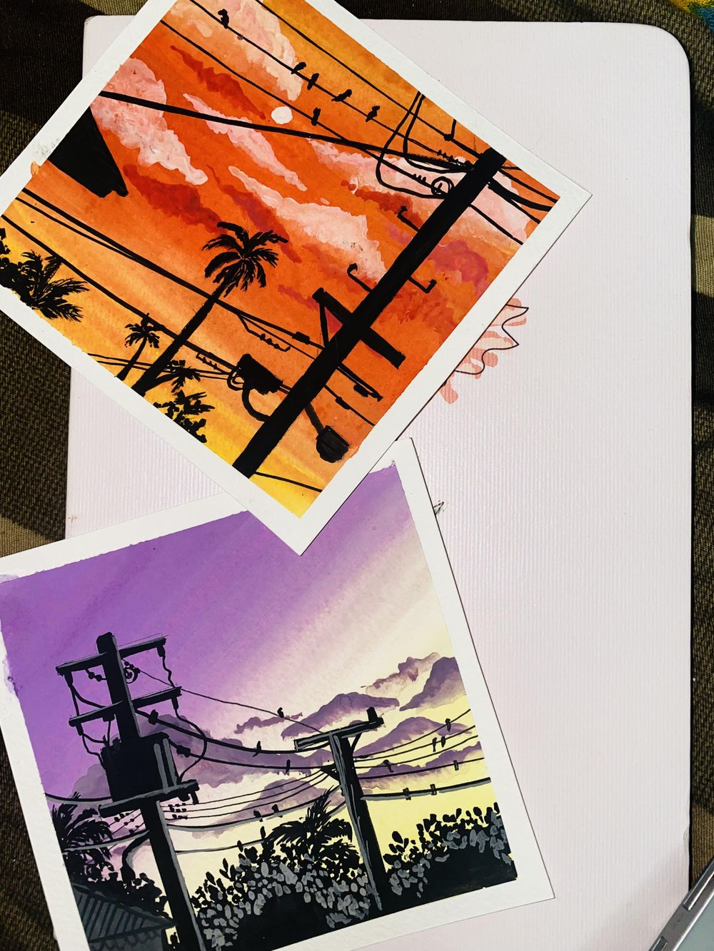 Gouache Silhouttes - image 7 - student project