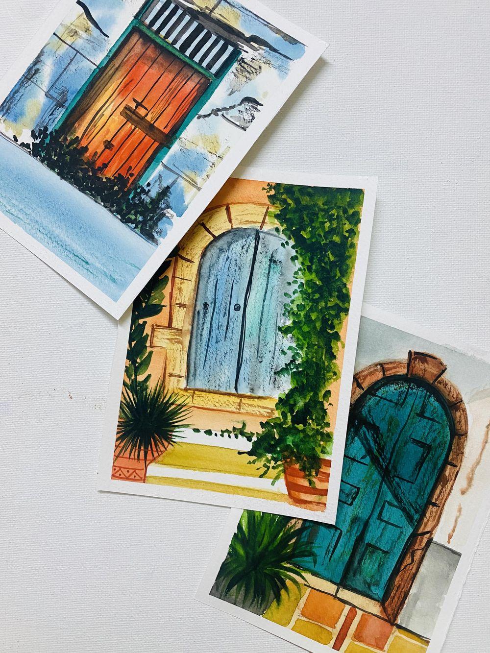 vintage doors - image 1 - student project