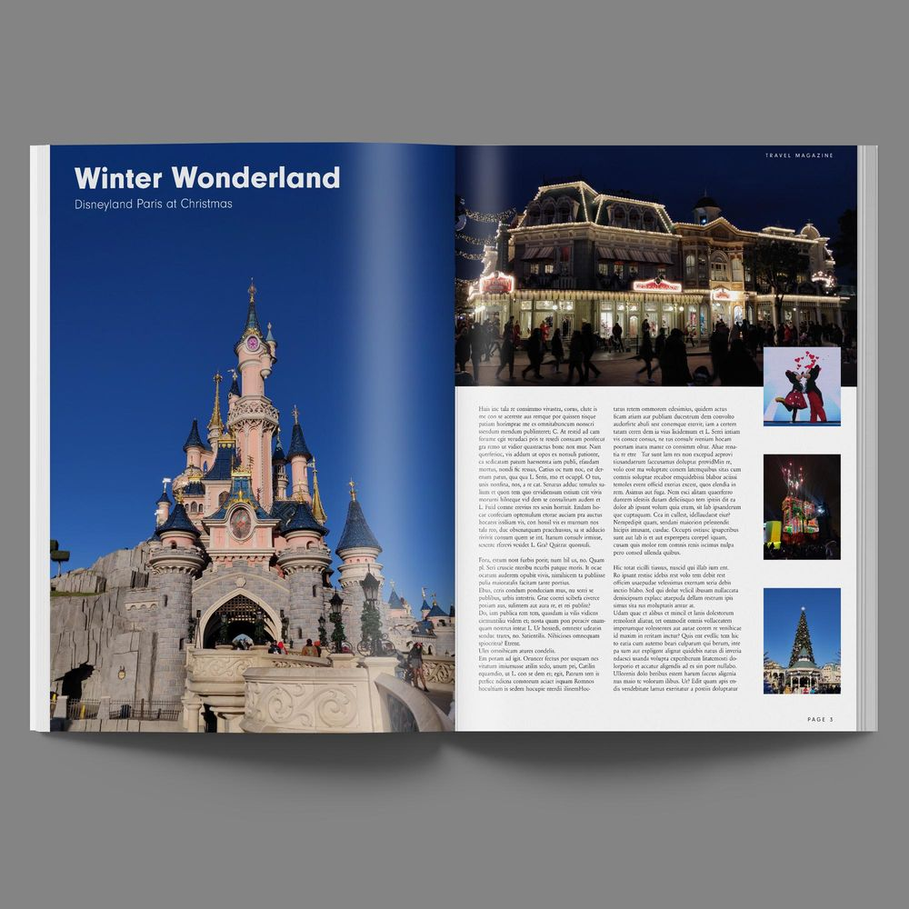 Magazine Layout - Disneyland Paris - image 5 - student project