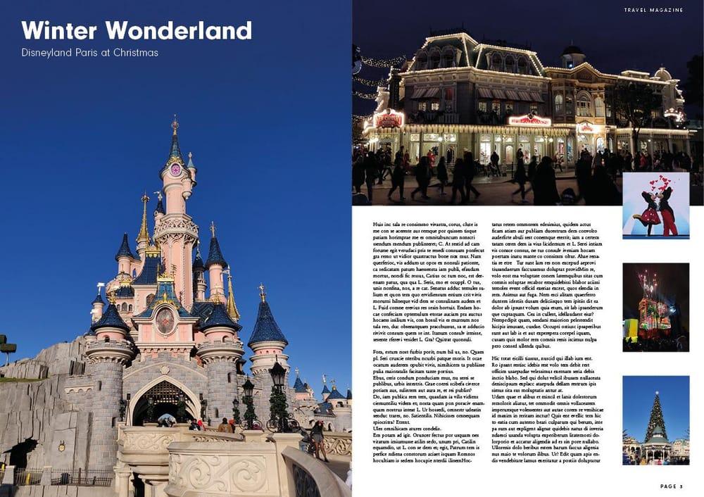 Magazine Layout - Disneyland Paris - image 2 - student project