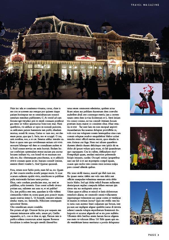 Magazine Layout - Disneyland Paris - image 4 - student project