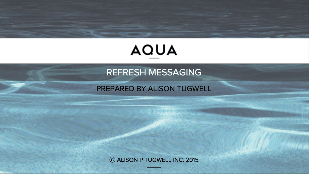 AQUA Studio NY - Messaging Refresh - image 3 - student project