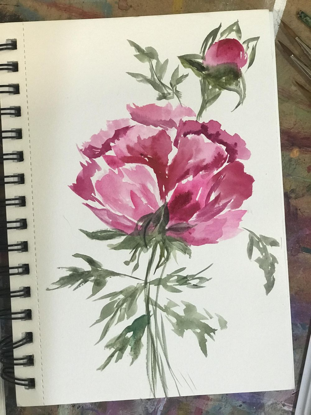 Loose Watercolor Florals - Part One - image 2 - student project