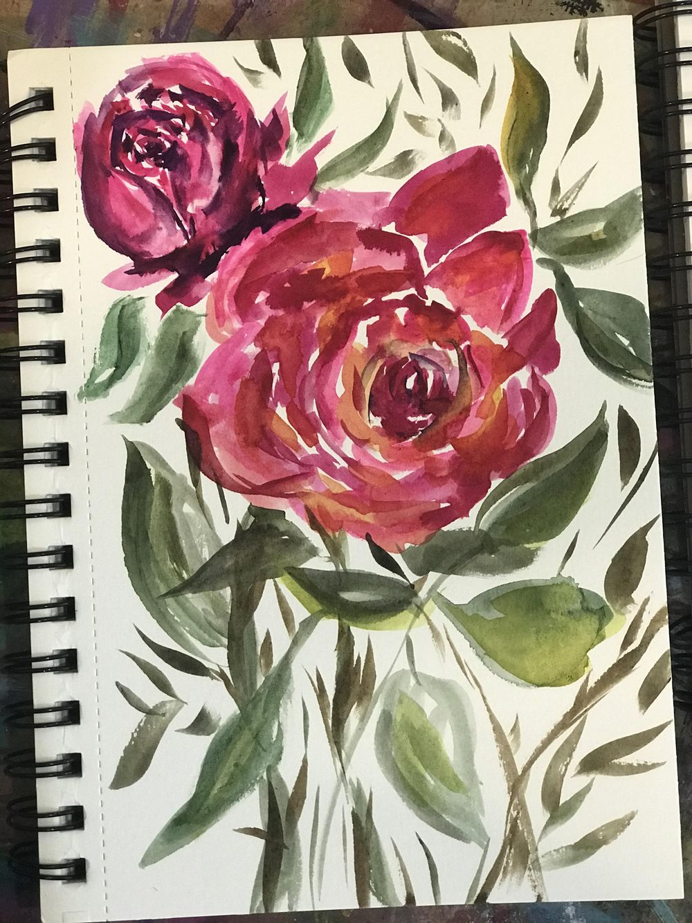 Loose Watercolor Florals - Part One - image 1 - student project