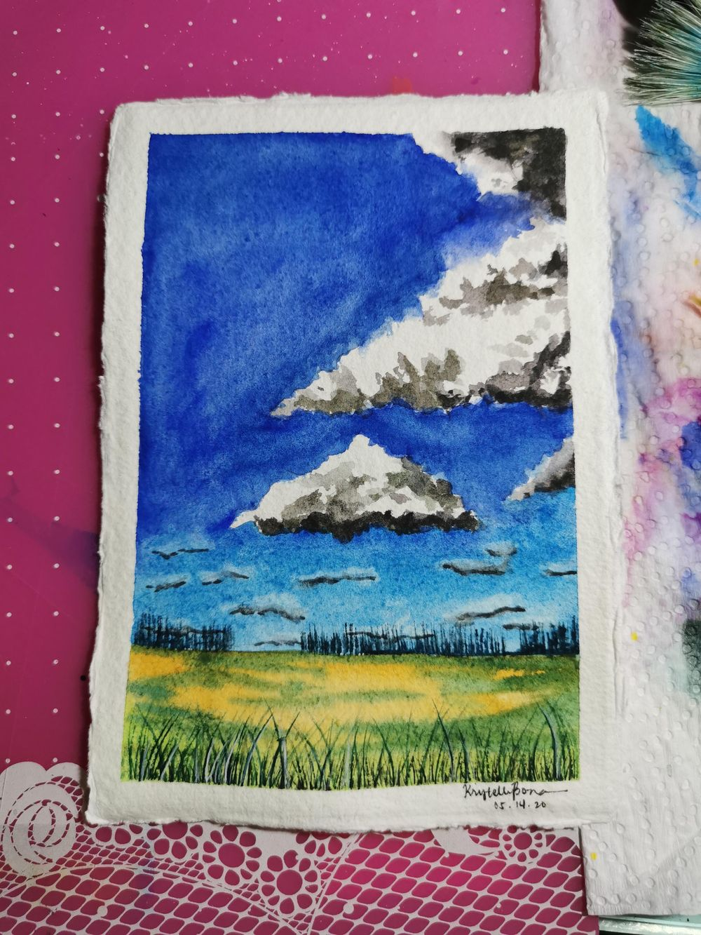 Clouds studies - image 3 - student project