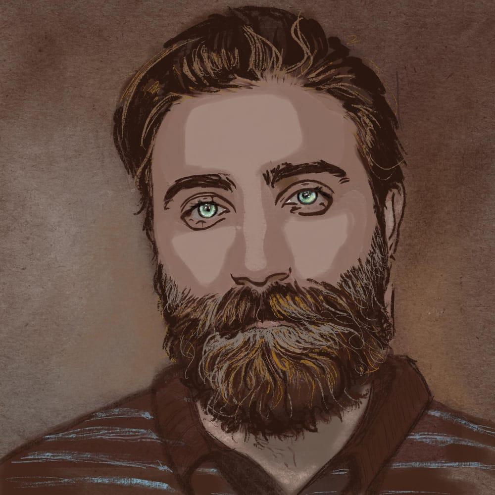 Pastel portrait - image 2 - student project