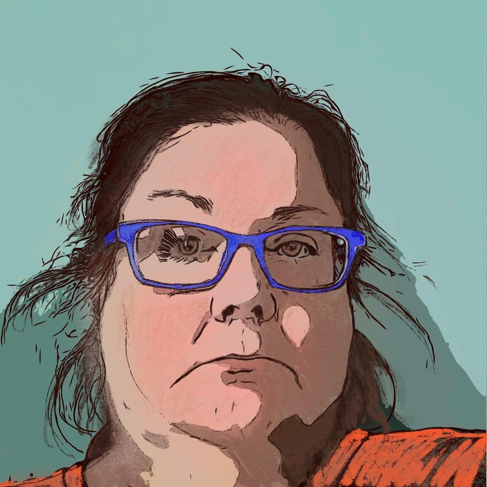 Pastel portrait - image 1 - student project