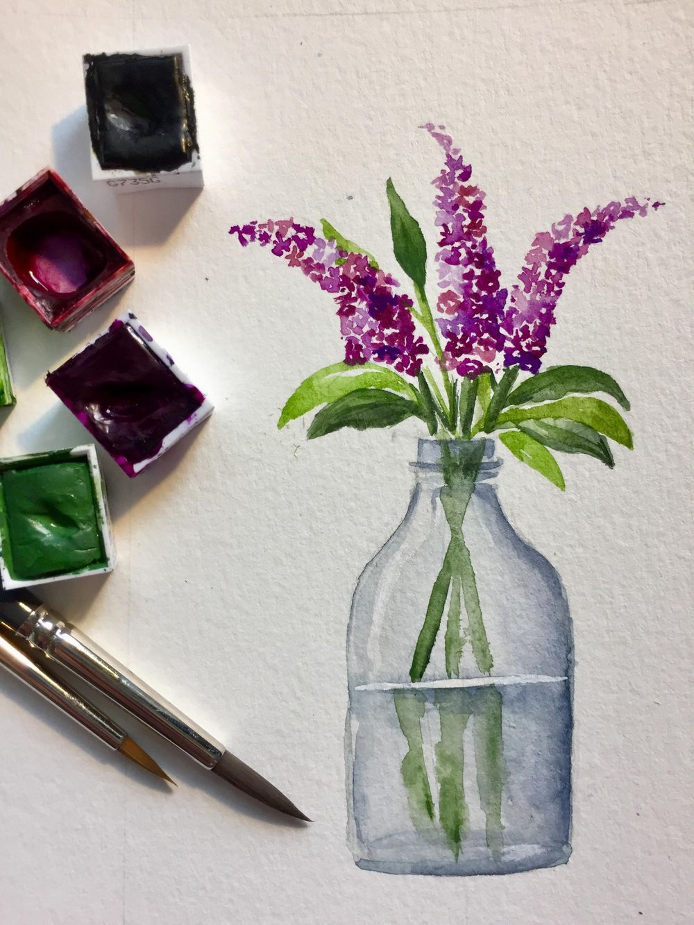 Watercolor Flowers - image 1 - student project