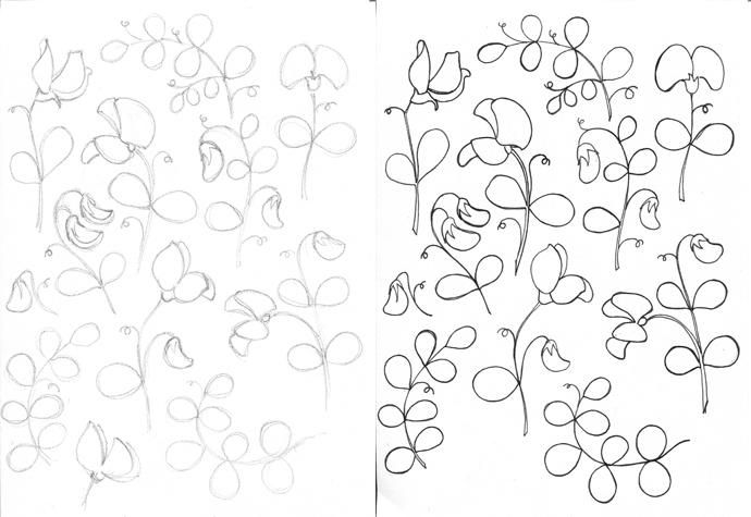 Sweet peas floral pattern - image 1 - student project