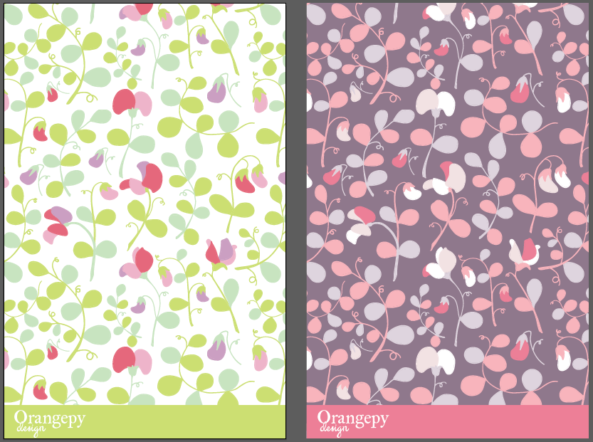 Sweet peas floral pattern - image 8 - student project