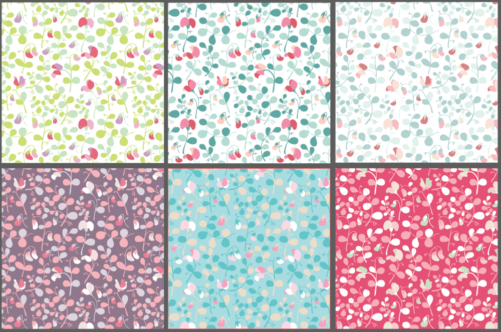 Sweet peas floral pattern - image 7 - student project