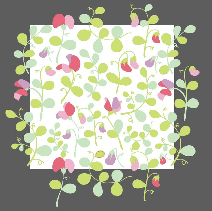 Sweet peas floral pattern - image 6 - student project