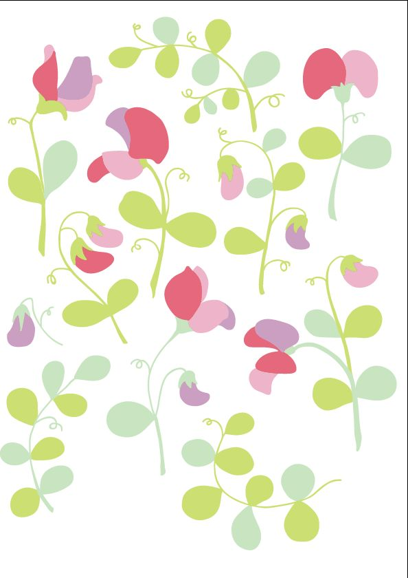 Sweet peas floral pattern - image 4 - student project