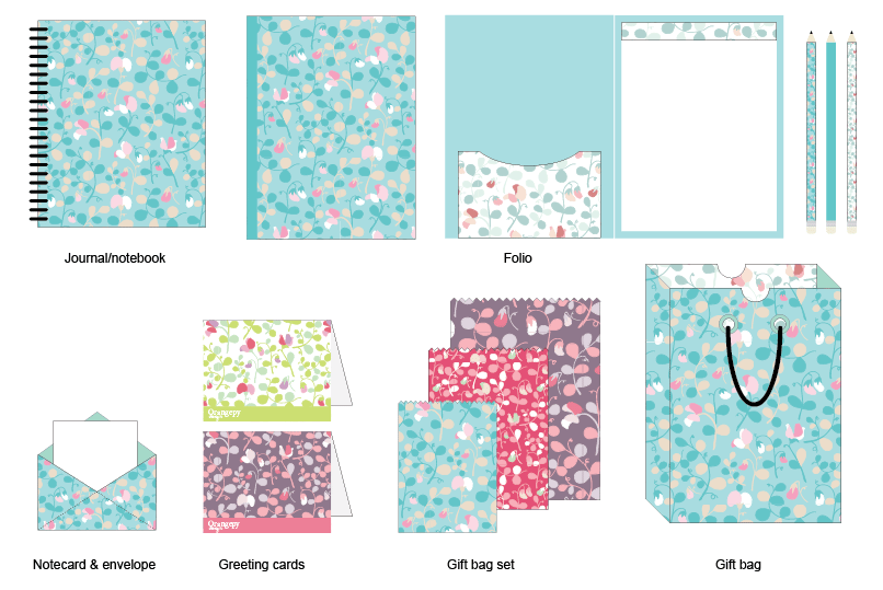 Sweet peas floral pattern - image 9 - student project