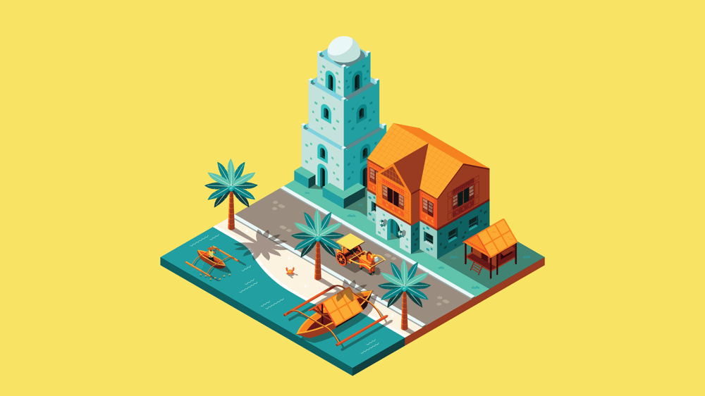 3D Illustration of an Old Filipino Town - image 4 - student project