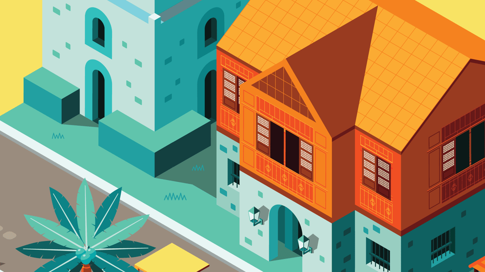 3D Illustration of an Old Filipino Town - image 3 - student project