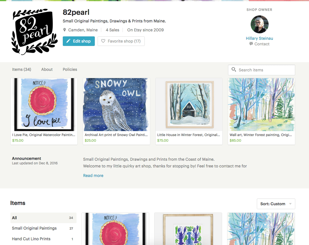 My Etsy shop is live! - image 1 - student project