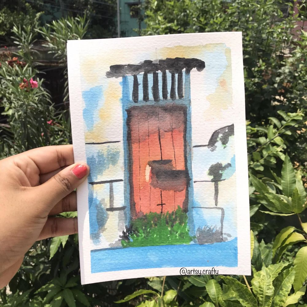 Watercolour Painting (Rustic Doors) - image 3 - student project