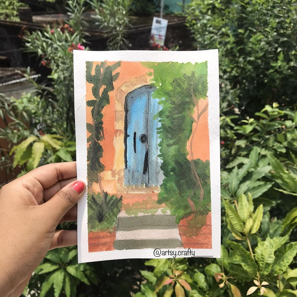 Watercolour Painting (Rustic Doors) - image 2 - student project