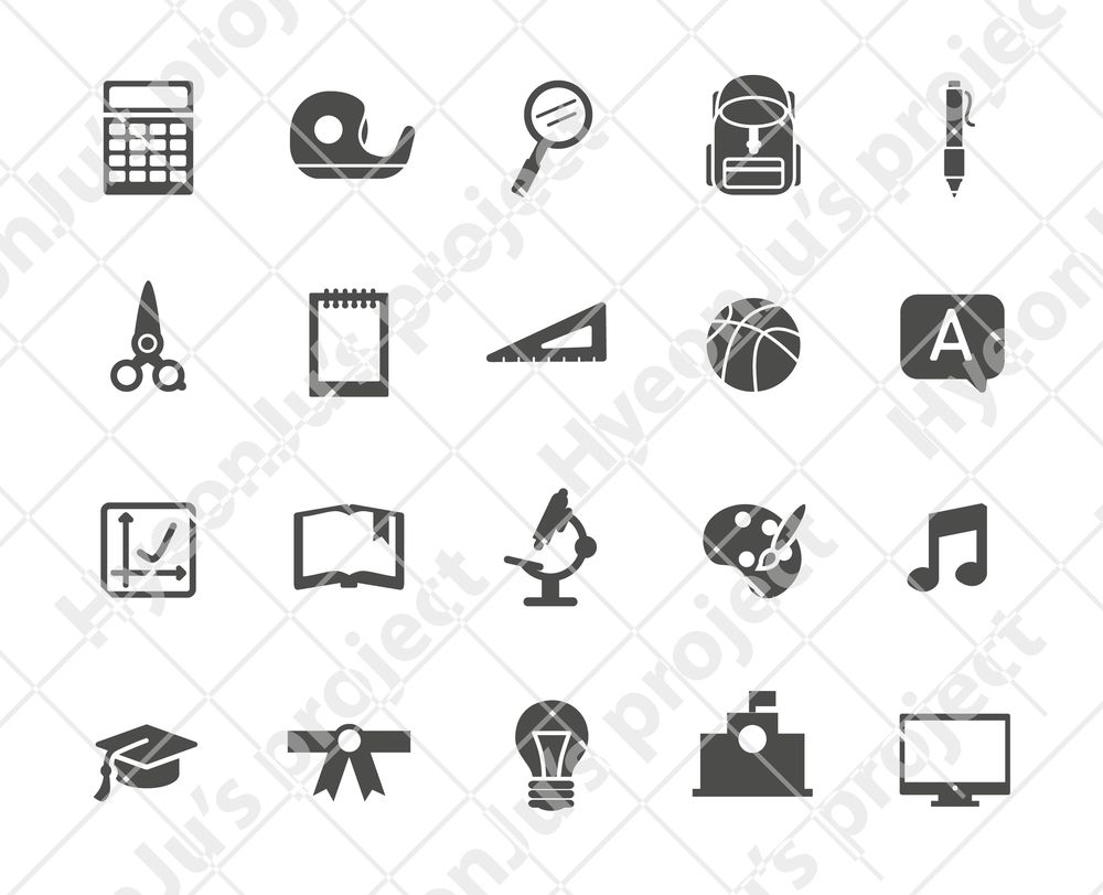 education related icon set - image 1 - student project