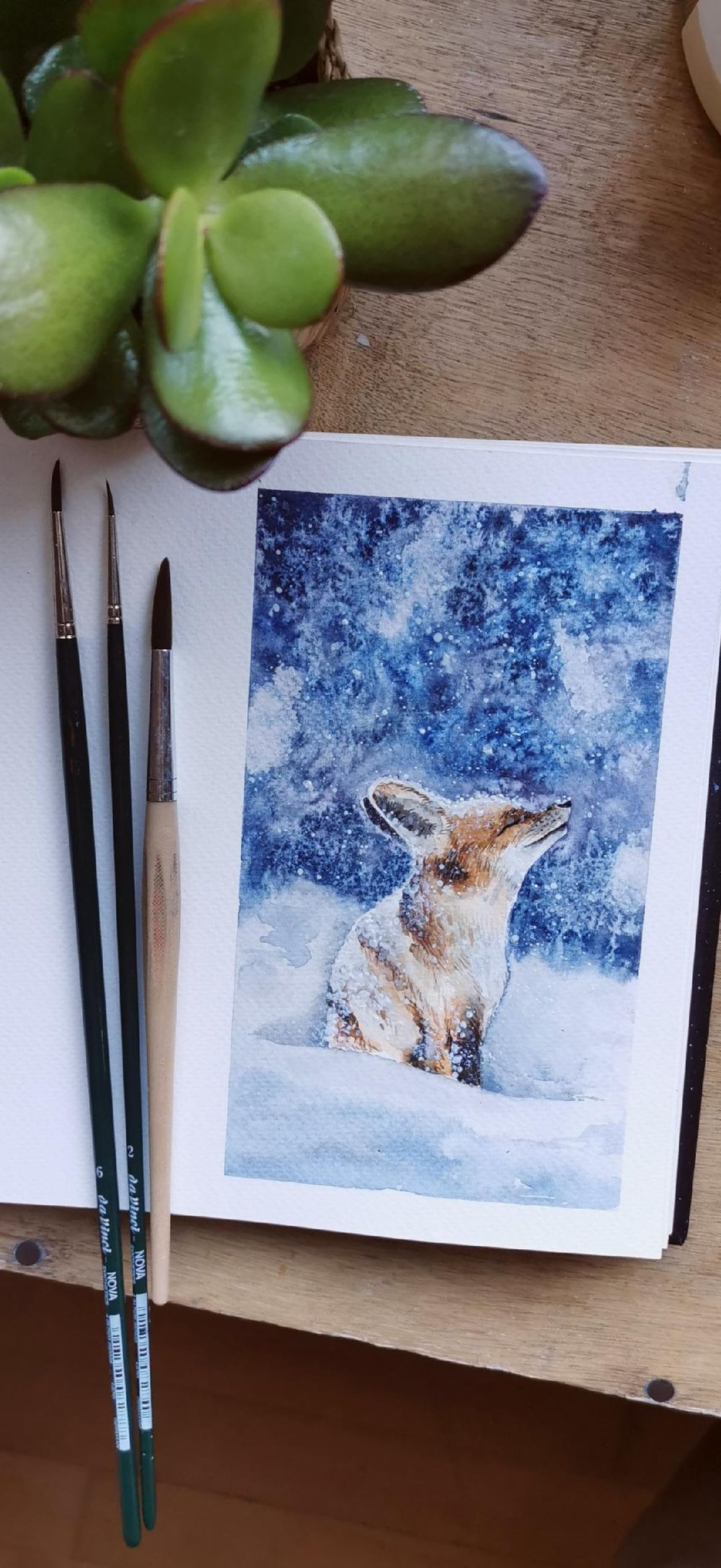 Snowy fox - image 1 - student project