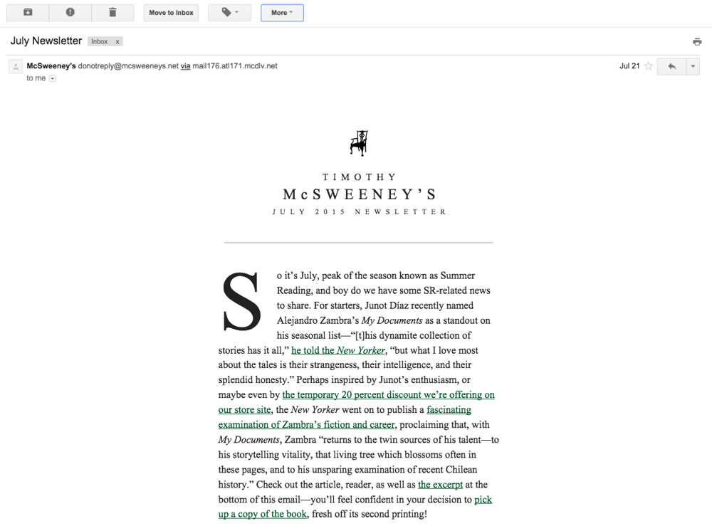 A Brand Newsletter That Feels Like a Bookstore - image 1 - student project