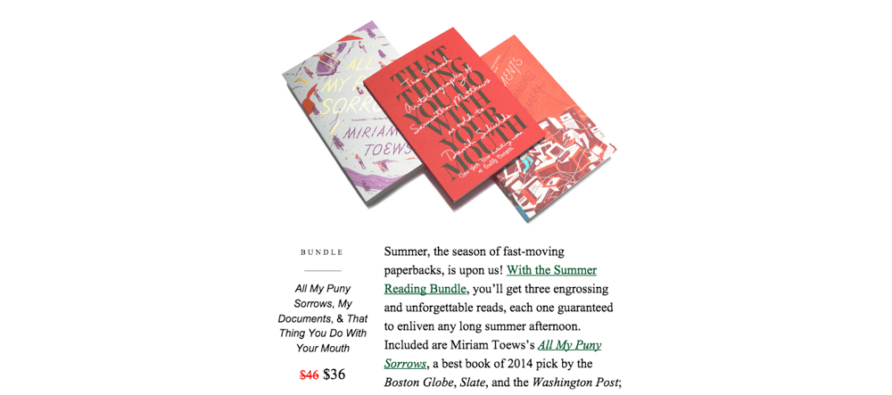 A Brand Newsletter That Feels Like a Bookstore - image 4 - student project