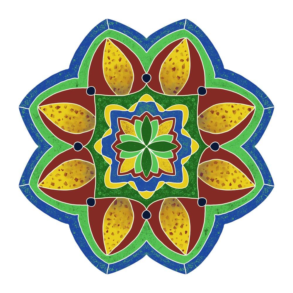 First Digital Mandala using Procreate - image 1 - student project