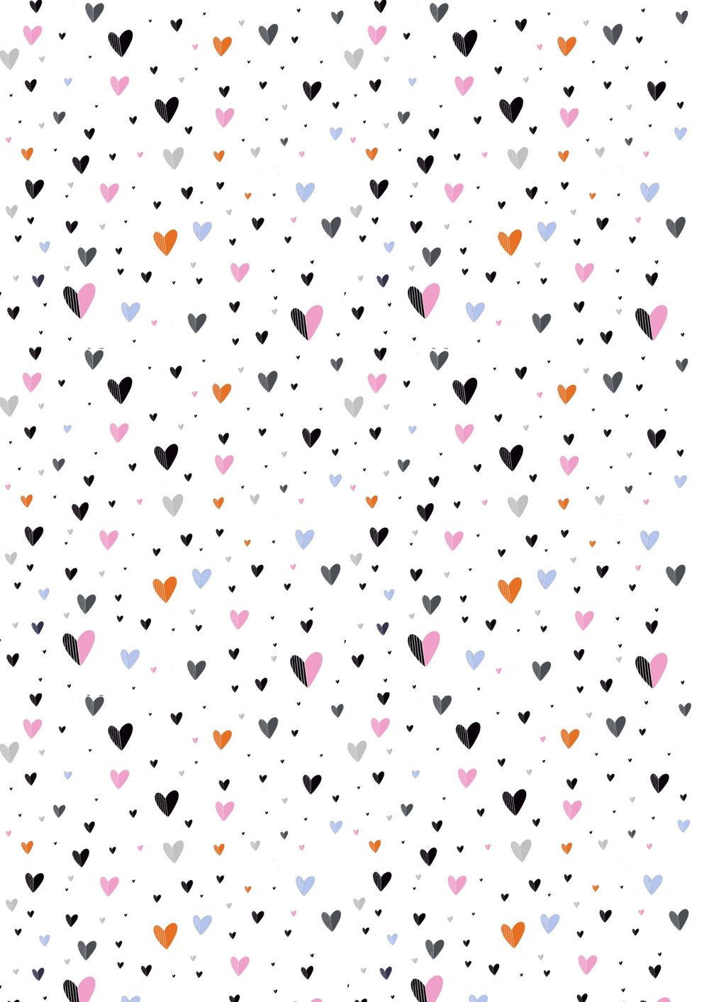 Repeating Pinstripe Heart Pattern - image 1 - student project