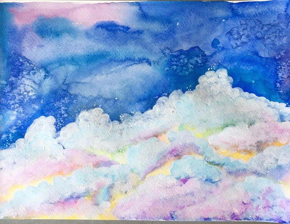 Watercolor & Mixed Media Class - image 5 - student project