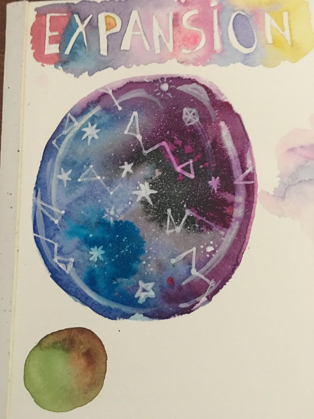 Watercolor & Mixed Media Class - image 2 - student project