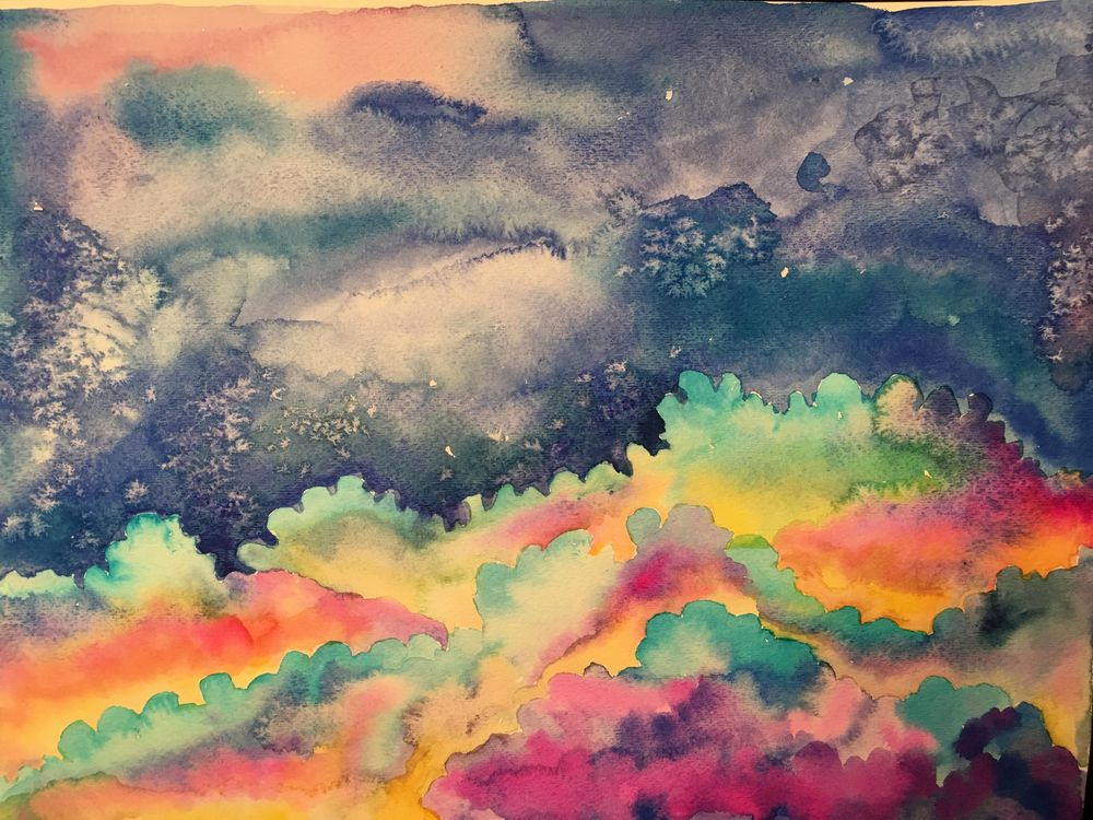 Watercolor & Mixed Media Class - image 4 - student project
