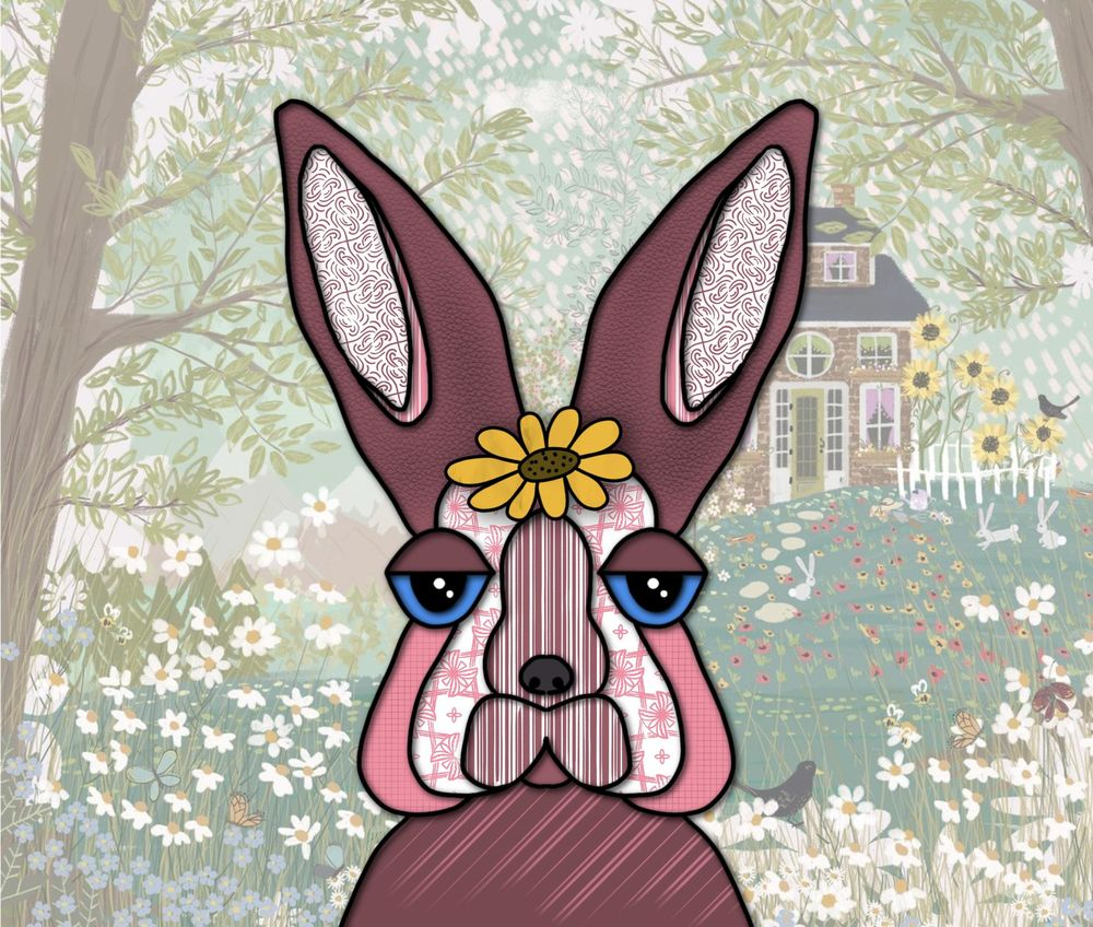 Wayward giraffe and rabbit - image 1 - student project