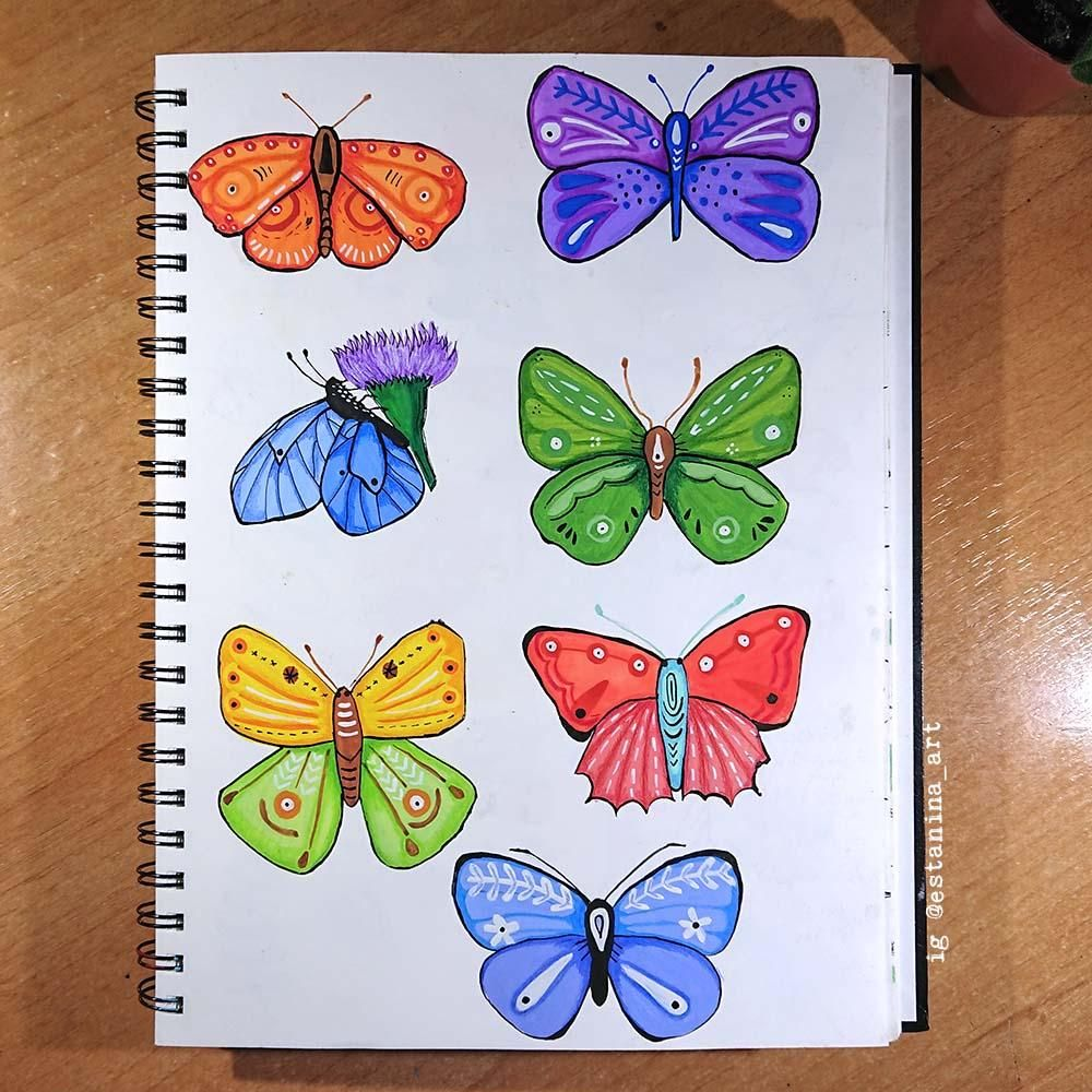 My butterflies - image 2 - student project