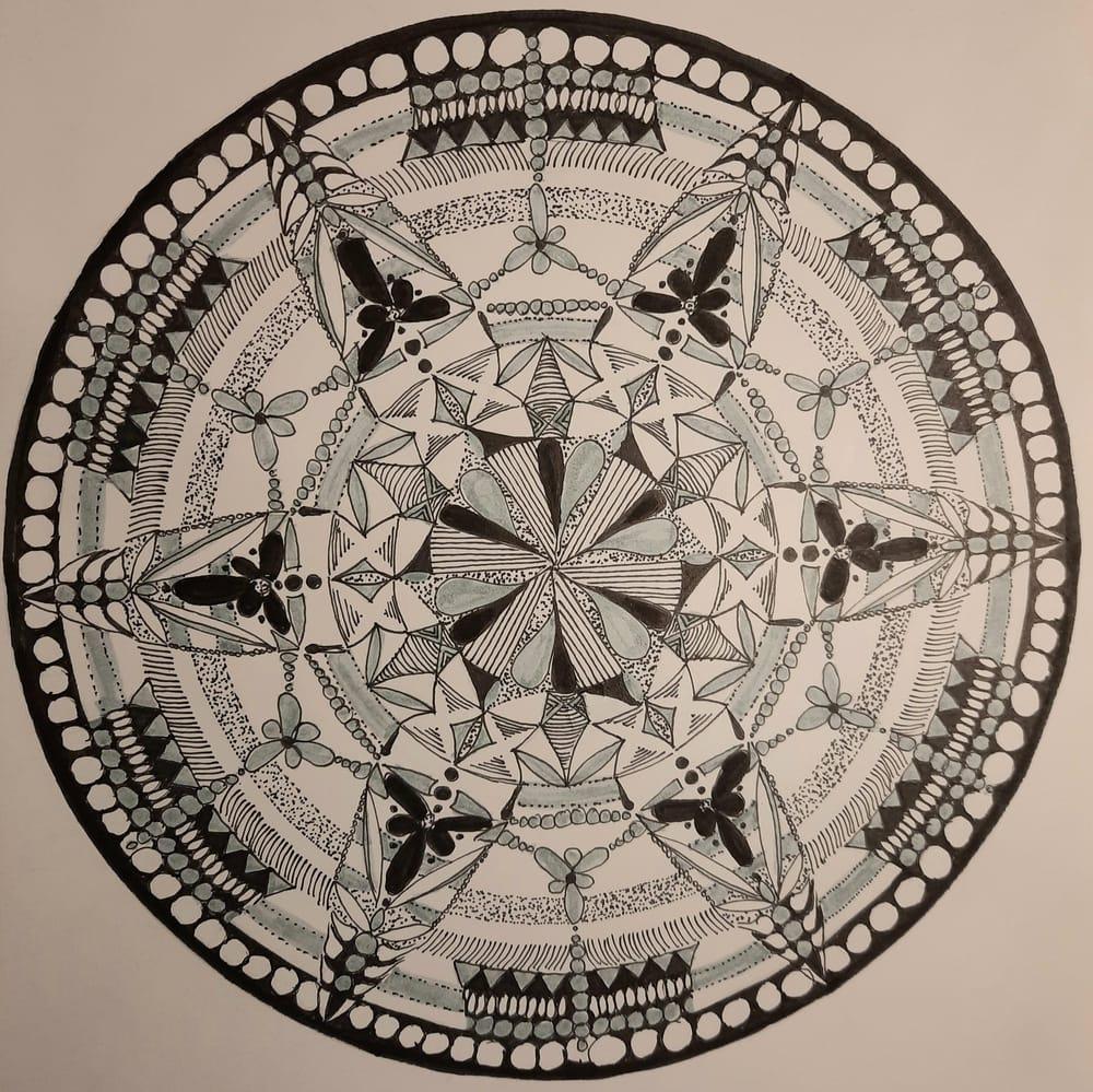 Hand drawn mandala - image 1 - student project