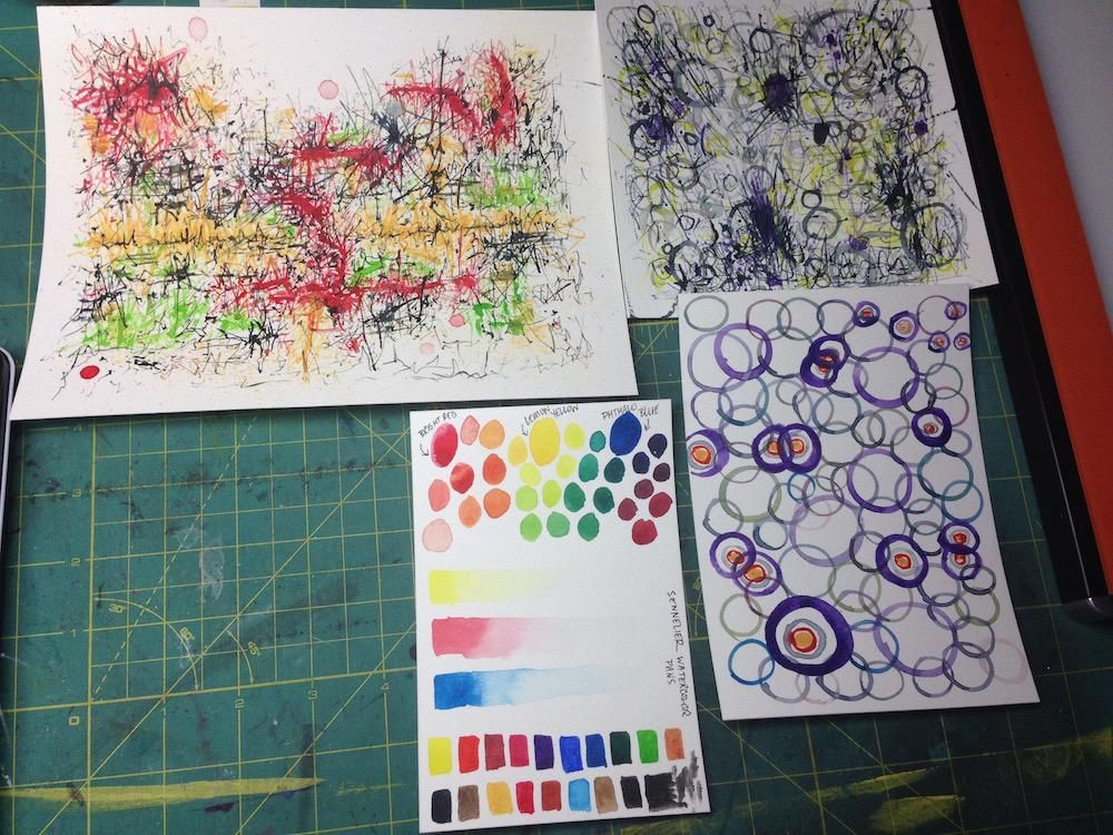 Mixing Watercolors - image 6 - student project