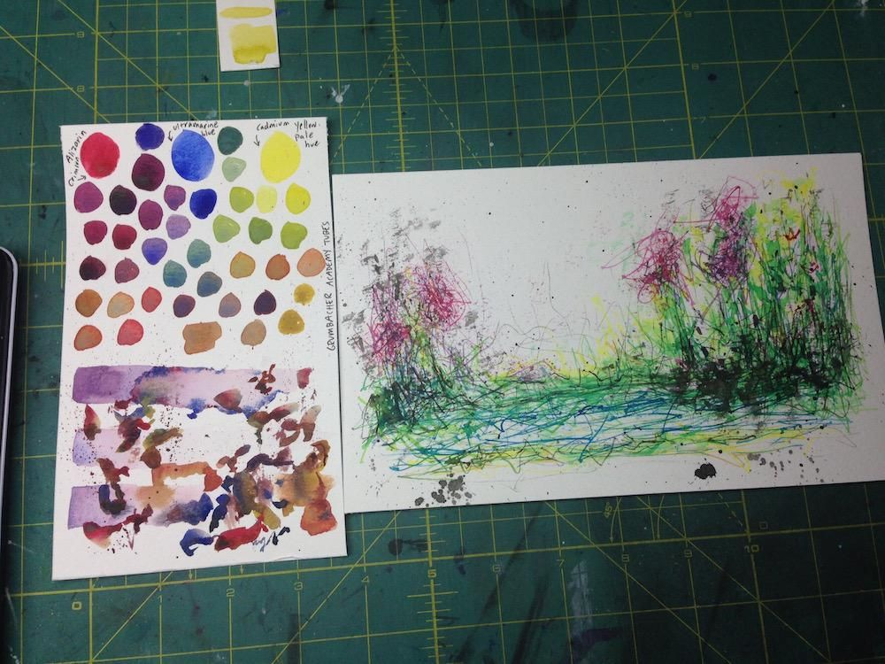 Mixing Watercolors - image 3 - student project