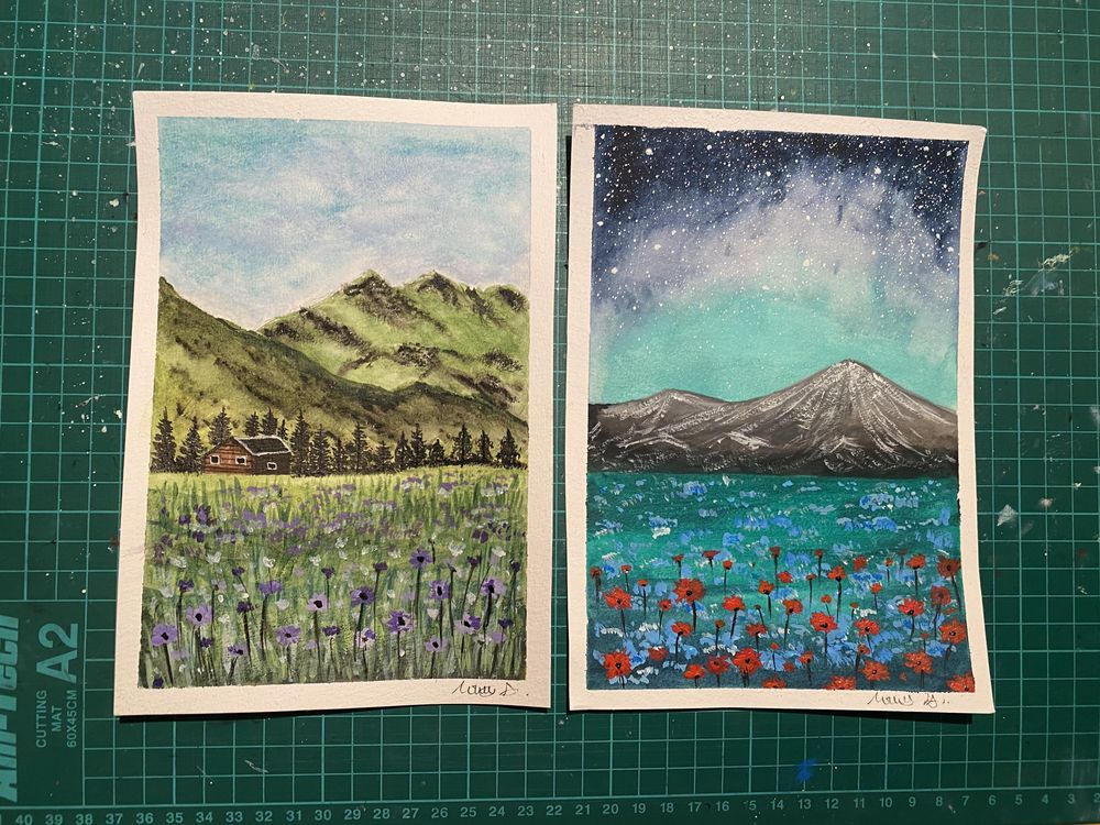 Violet Meadow and Red Blooms - image 3 - student project